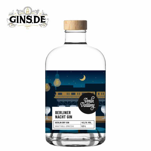 Flasche Berlin Distillery Berliner Nacht Gin