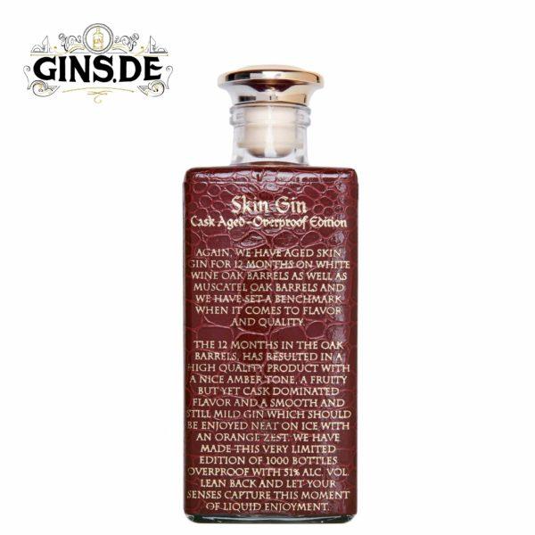 Flasche Skin Gin Cask Aged Seite