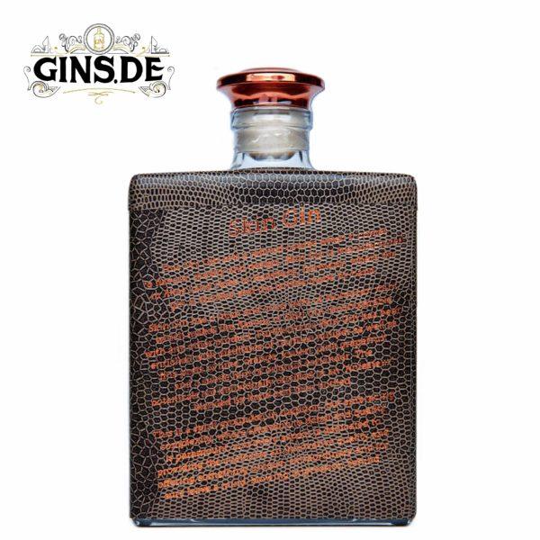 Flasche Skin Gin brown hinten