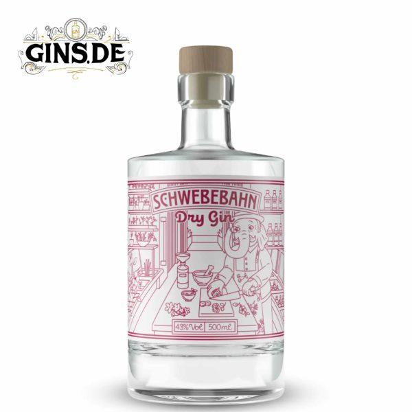 Flasche Schwebebahn Dry Gin