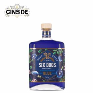 Flasche Six Dogs Blue Gin