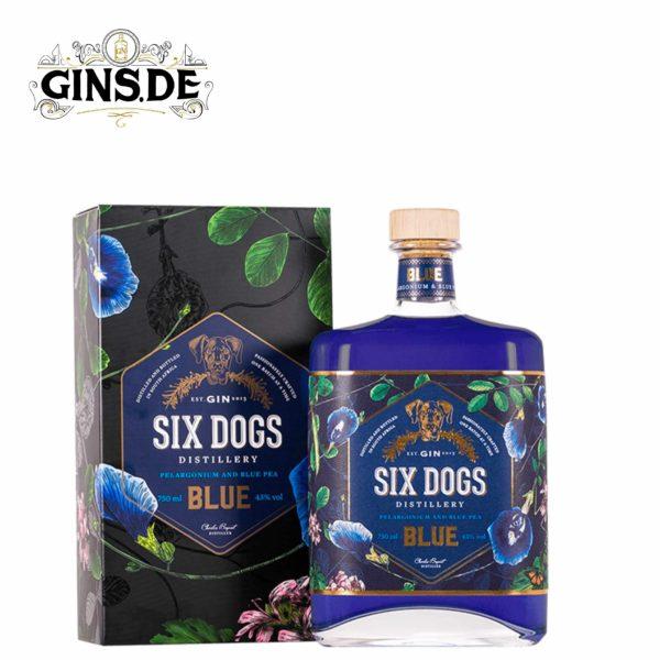 Flasche Six Dogs Blue Gin