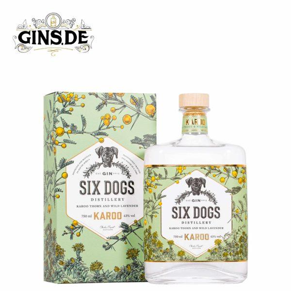 Flasche Six Dogs Karoo Gin