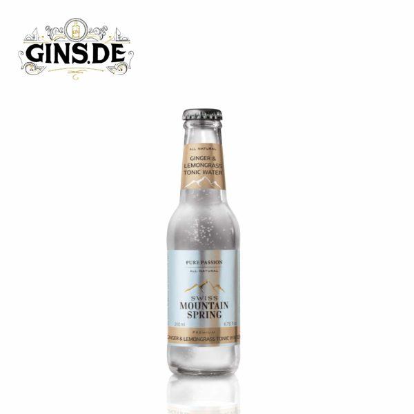 Flasche Swiss Mountain Ginger und Lemongrass Tonic Wather