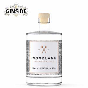 Flasche WOODLAND Sauerland Distillers Dry GIN