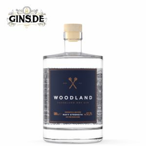 Flasche WOODLAND Sauerland Distillers Dry GIN Navy Strength