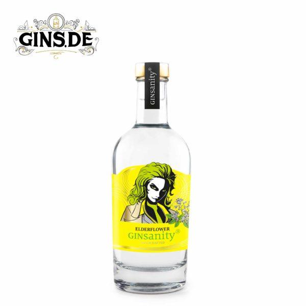 Flasche Ginsanity Edelflower Gin