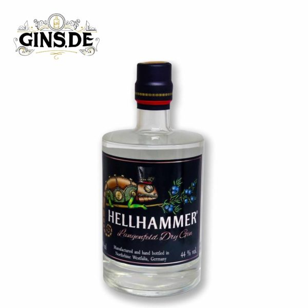 Flasche Hellhammer Dry Gin