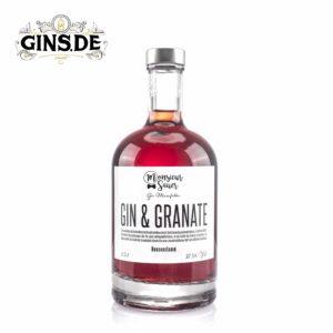 Flasche Monsieur Sauer Gin und Granate