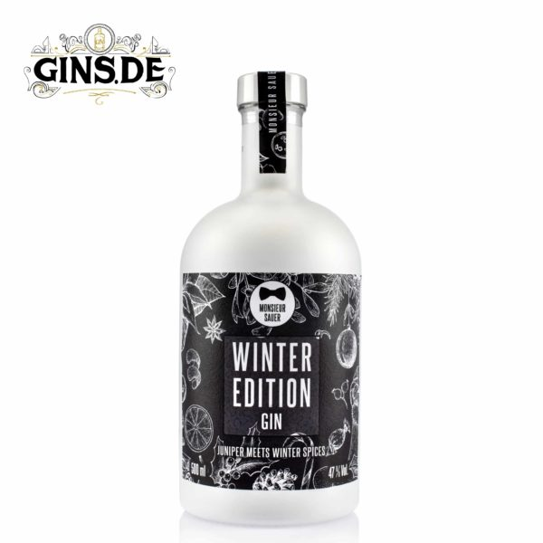 Flasche Monsieur Sauer Winter Edition Gin