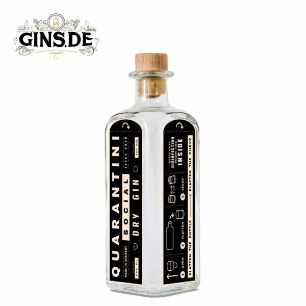 Flasche Quarantini Social Dry Gin