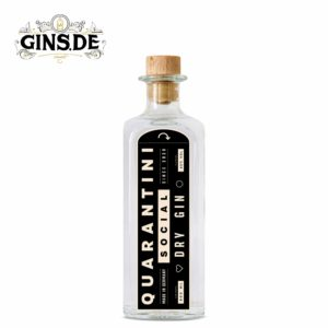 Flasche Quarantini Social Dry Gin Front