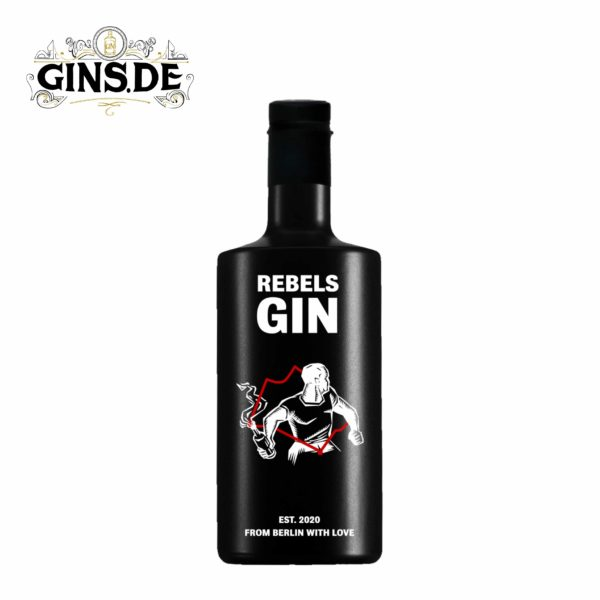 Flasche Rebel Berlin Dry Gin vorne