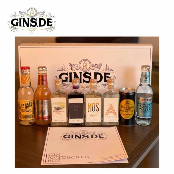 Gin Entdecker Box mit Inhalt und Buch