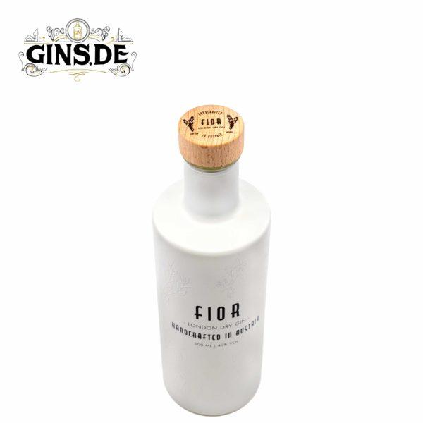 Flasche Fior Gin von oben
