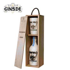 Knut Hansen Dry Gin Geschenkbox offen