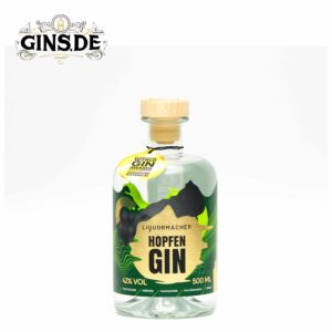 Flasche Liquermacher Hopfen Gin vorne