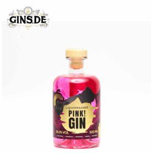 Flasche Liquermacher Pink Gin vorne
