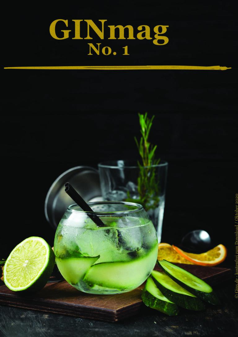 Titelseite GINmag No 1 das Gin Magazin