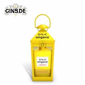 Flasche Ungava Premium Gin mit Laterne