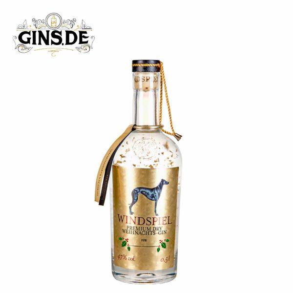 Flasche Windspiel Weihnacht Gin