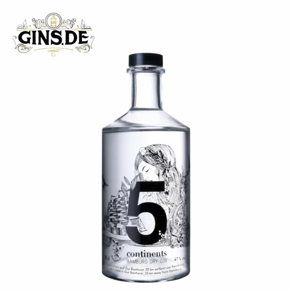 Flasche 5 Continents Dry Gin