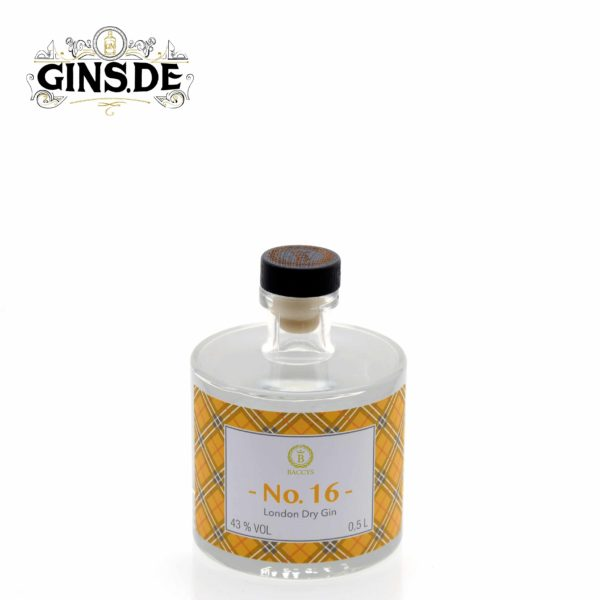 Flasche Baccys No 16 London Dry Gin