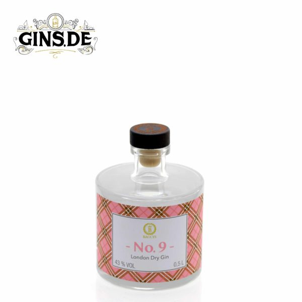 Flasche Baccys No 9 London Dry Gin