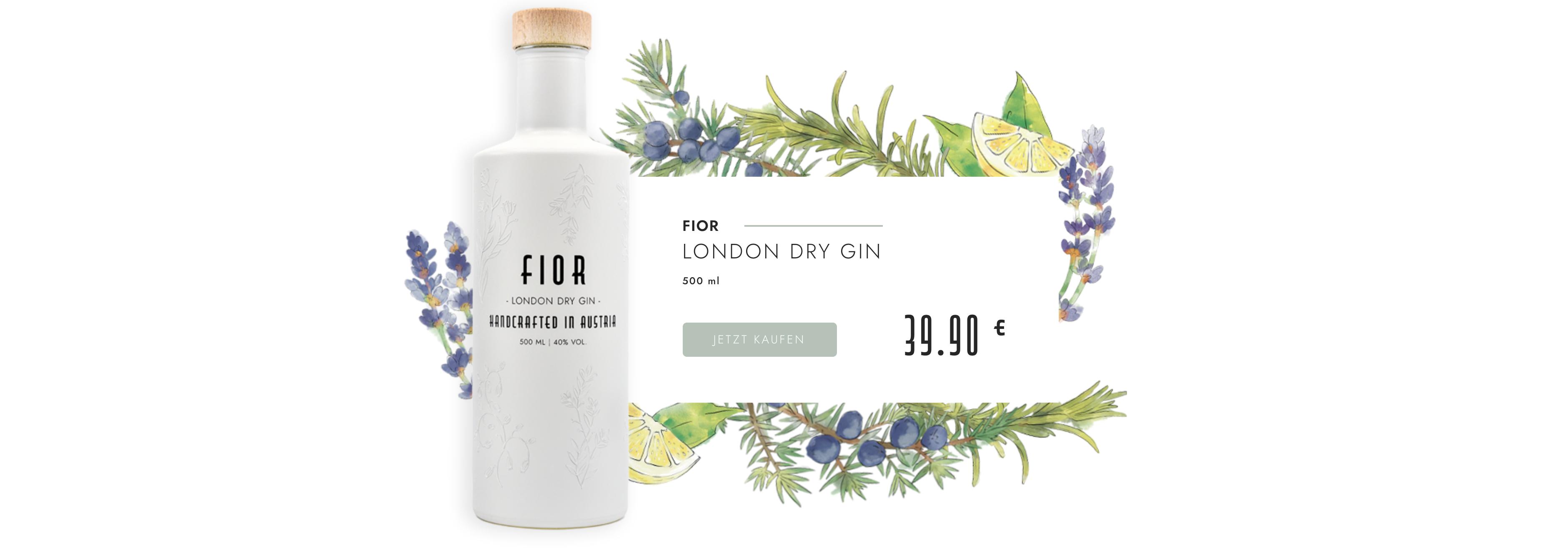 Werbung Fior London Dry Gin