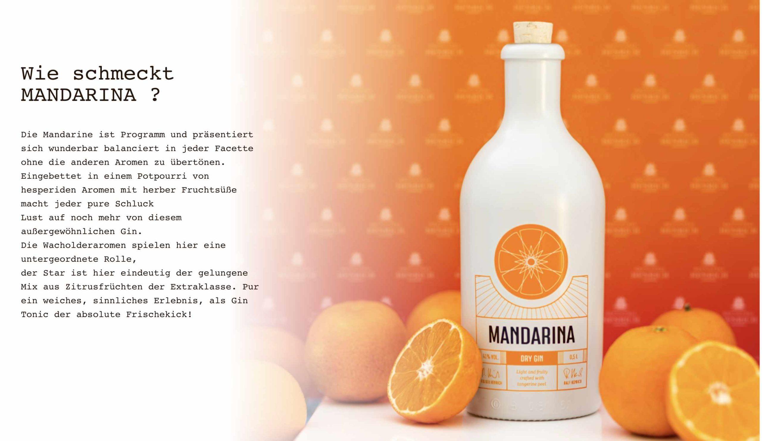 Werbung Mandarina Dry Gin
