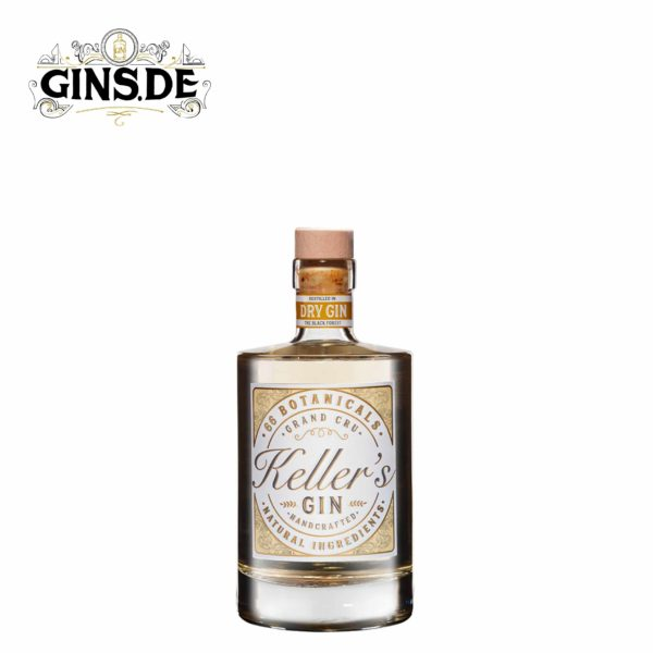 Flasche Kellers Dry Gin