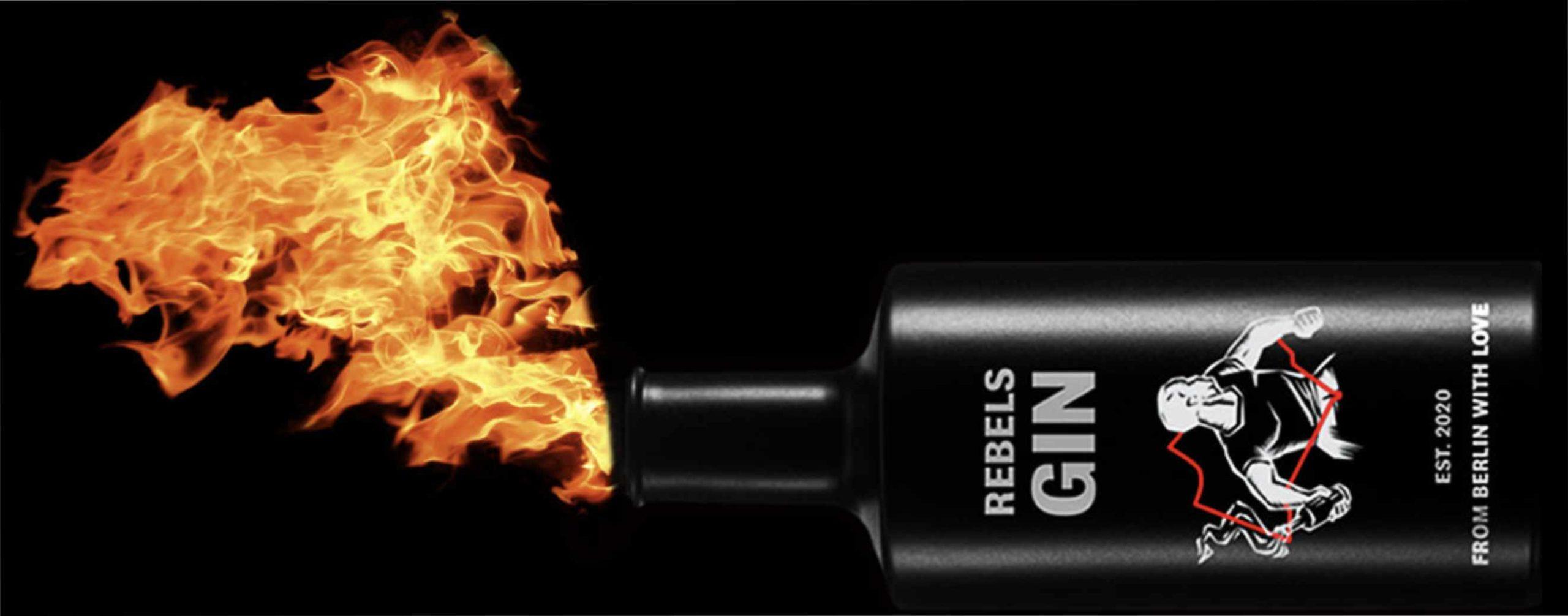 Werbung Rebels Gin