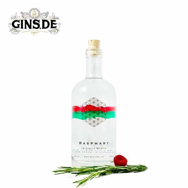 Flasche 19 Spirits Raspmary Nano Batch Dry Gin