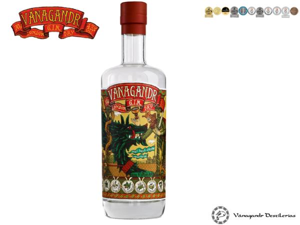 Flasche Vanagandr London Dry Gin