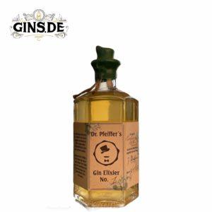 Flasche Dr Pfeiffers Gin Elixier No 1 vorn