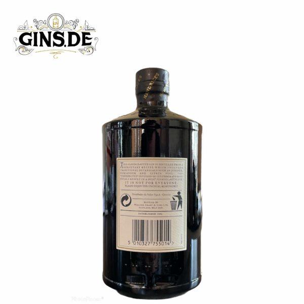 Flasche Hendricks Gin hinten