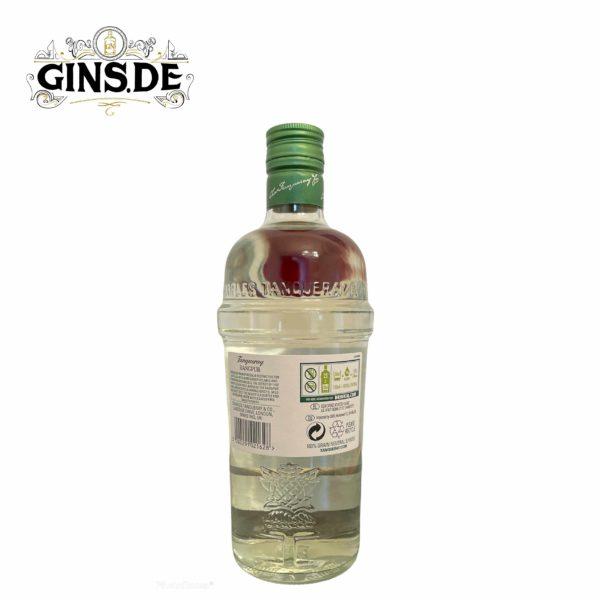 Flasche Tangueray Rangpur Gin hinten