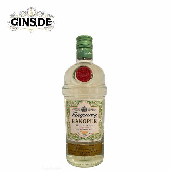 Flasche Tangueray Rangpur Gin vorn