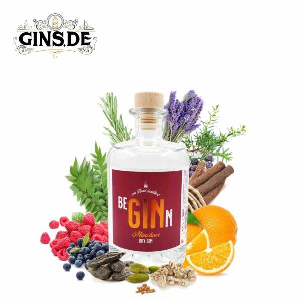 Flasche BeGINn - Münchner Dry Gin