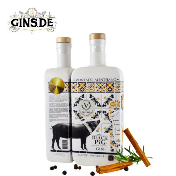 Flasche Black Pig Gin Montado Alentejano seite