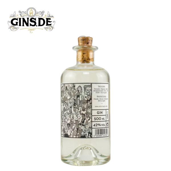 Flasche Rubus Citris Gin hinten