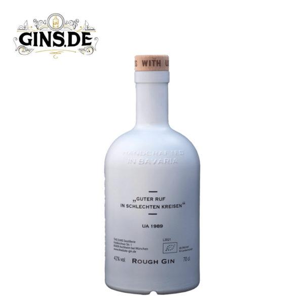 Flasche The Duke Rough Gin Unfair Edition hinten