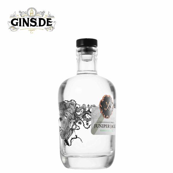 Flasche Juniper Jack London Dry Gin Seite