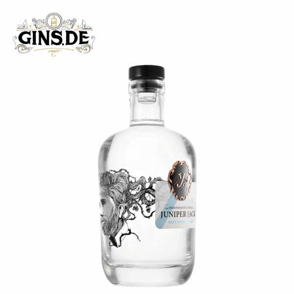 Flasche Juniper Jack Navy Strength Gin seite
