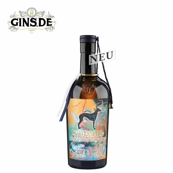 Flasche Windspiel Premium Dry Gin Art Edition Pistacchio 47%